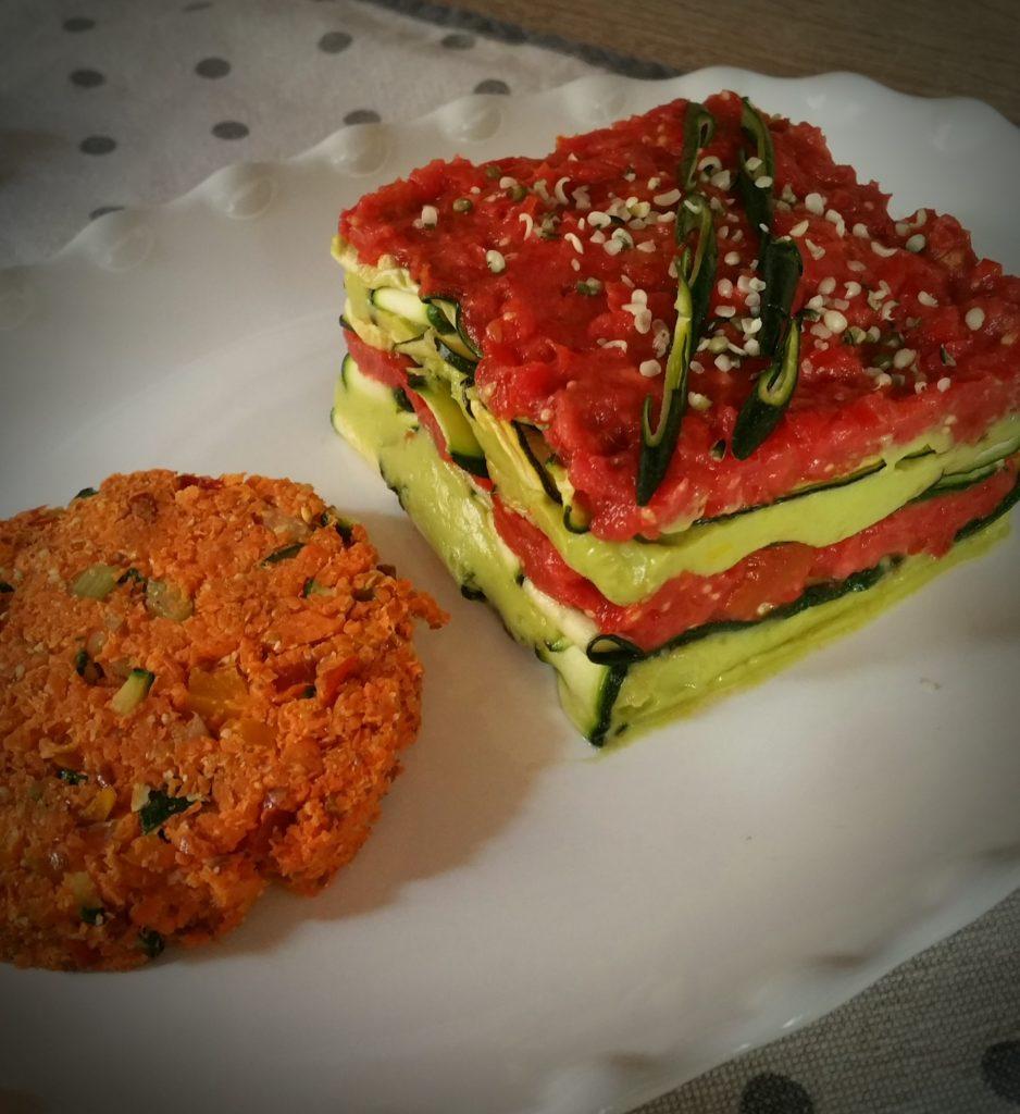 lasagna di zucchine crudista